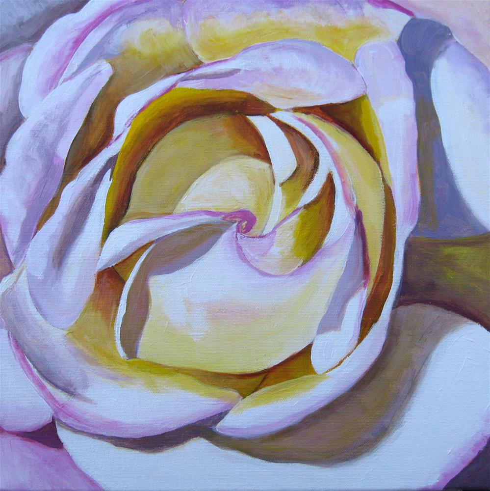 """Light Pink Rose Study"" original fine art by Lisa Wiertel"