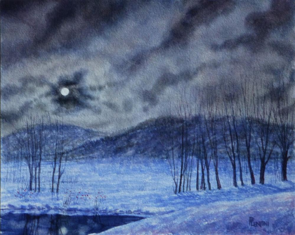 """Moon of the Long Night Rising:"" original fine art by Peter Lentini"