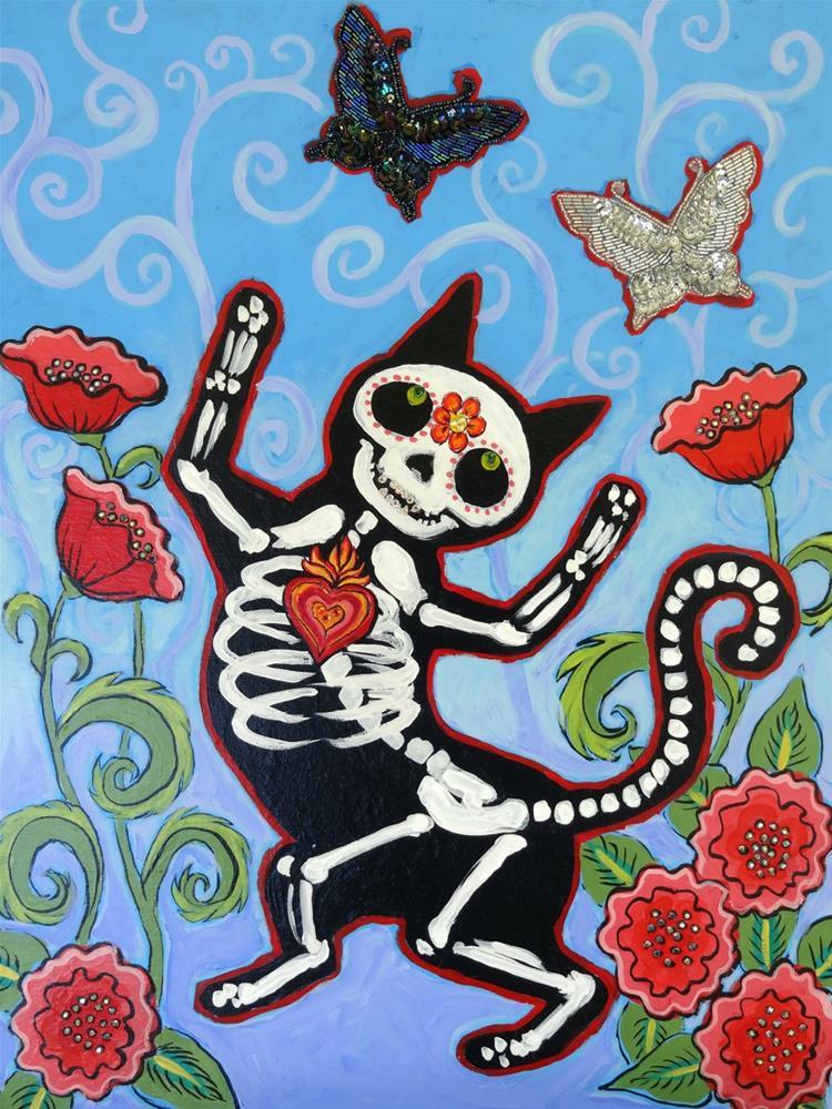 """""""Gato de Los Muertos"""" original fine art by Ande Hall"""