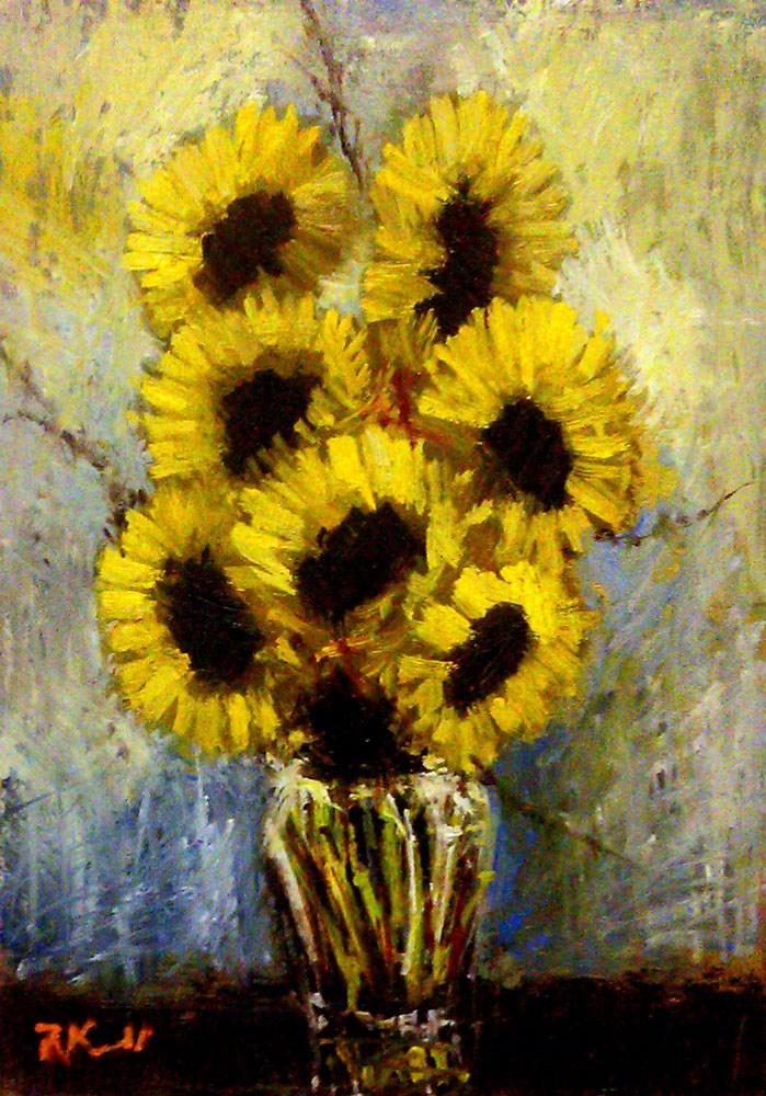 """Sunflowers II"" original fine art by Bob Kimball"