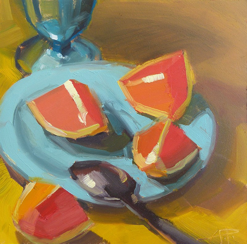 """A Spoonful of Slices"" original fine art by Anette Power"