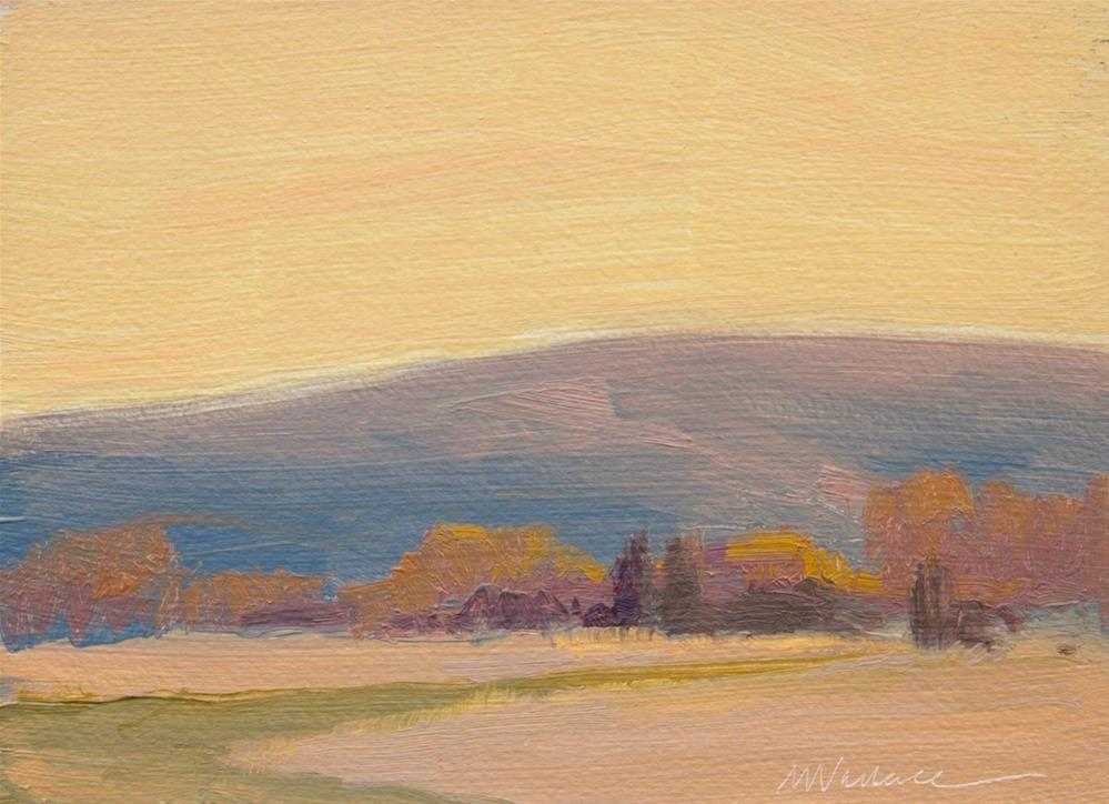 """#99 Autumn afternoon 1"" original fine art by Nancy Wallace"