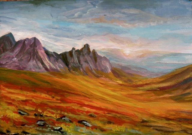 """Tombstone Mountains, Yukon"" original fine art by Jackie Irvine"