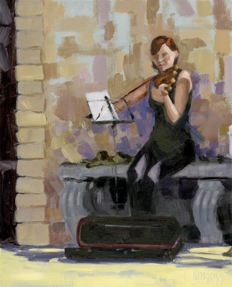 """No. 2 Trio in Triptych"" original fine art by Nancy Parsons"
