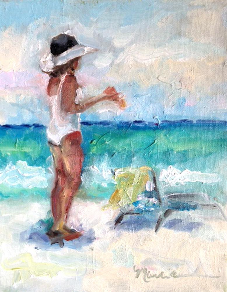 """Beach Time"" original fine art by Marcia Hodges"