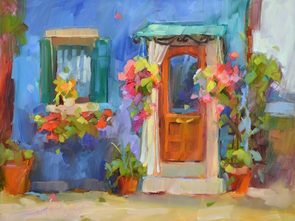 """Burano Blue"" original fine art by Dreama Tolle Perry"
