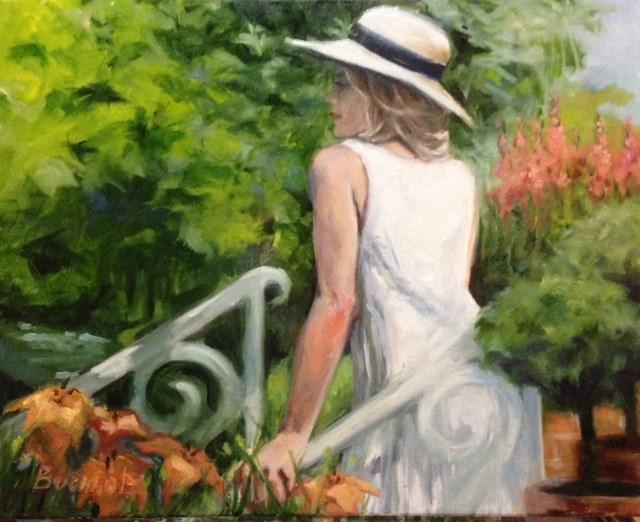 """Garden views"" original fine art by Terri Buchholz"