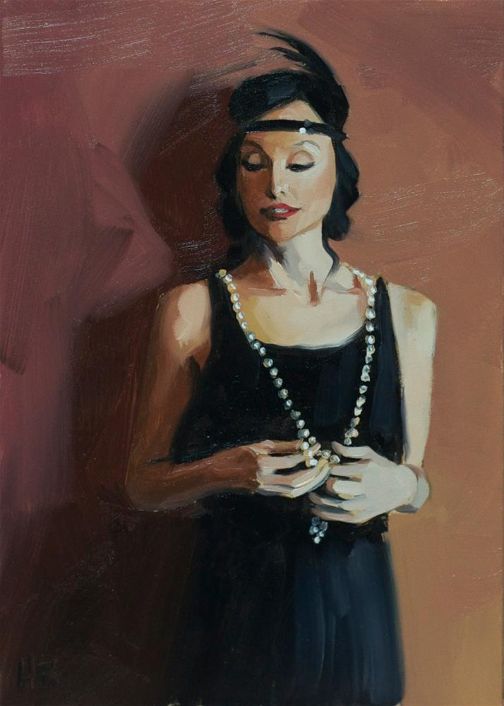 """Flapper Study"" original fine art by Heather Bullach"
