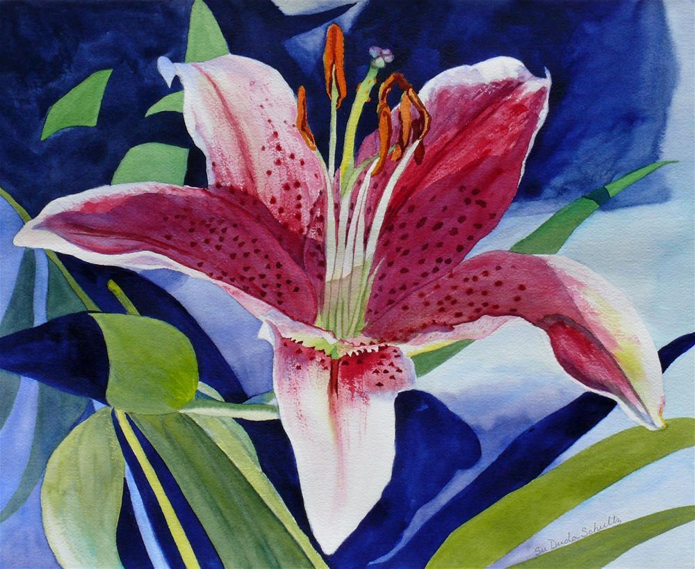 """Inspiration Stargazer Lily"" original fine art by Susan Duda"