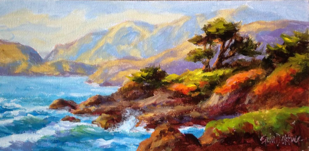 """Sunset California Style"" original fine art by Erin Dertner"