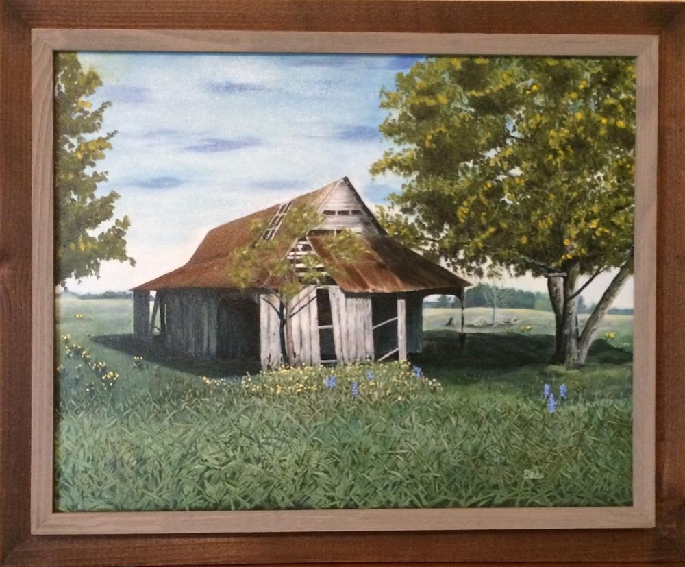 """Texas barn"" original fine art by Beau Crump"
