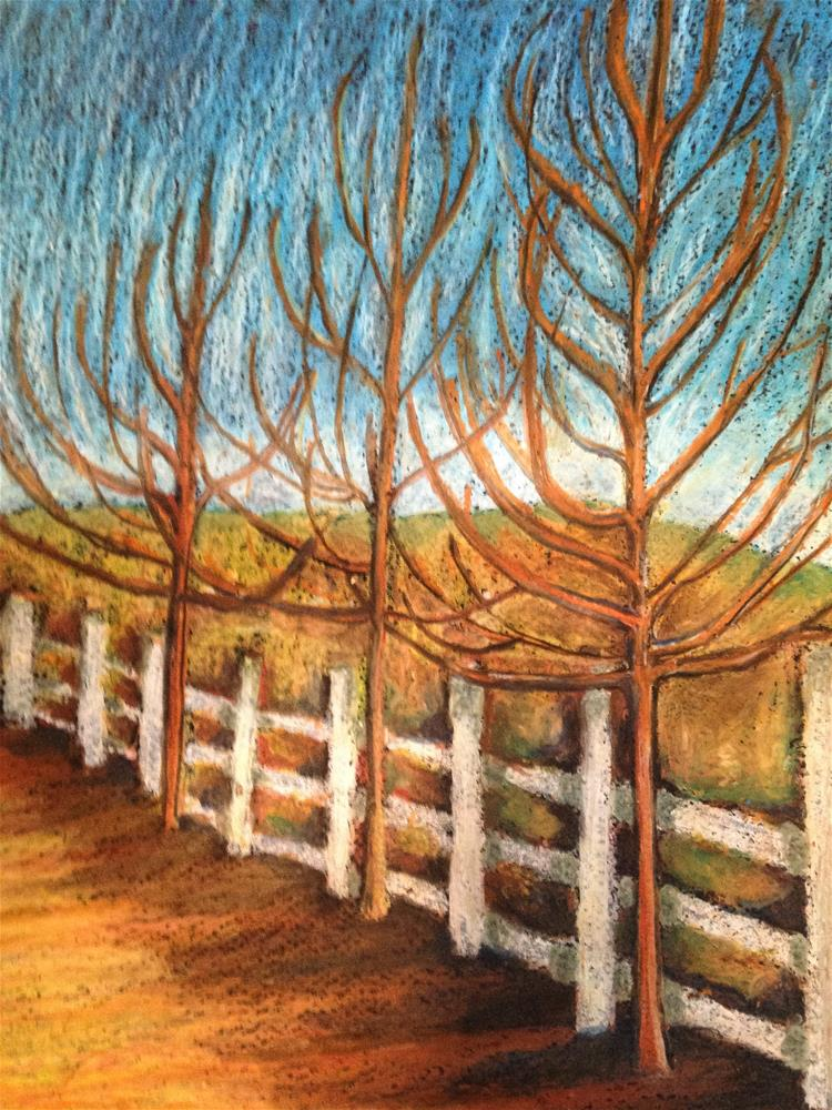 """Trees ready for winter"" original fine art by Giovanni Antunez"
