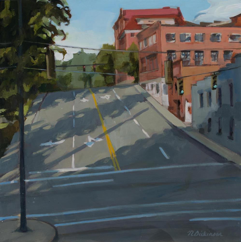 """Woodfin Street"" original fine art by Nat Dickinson"