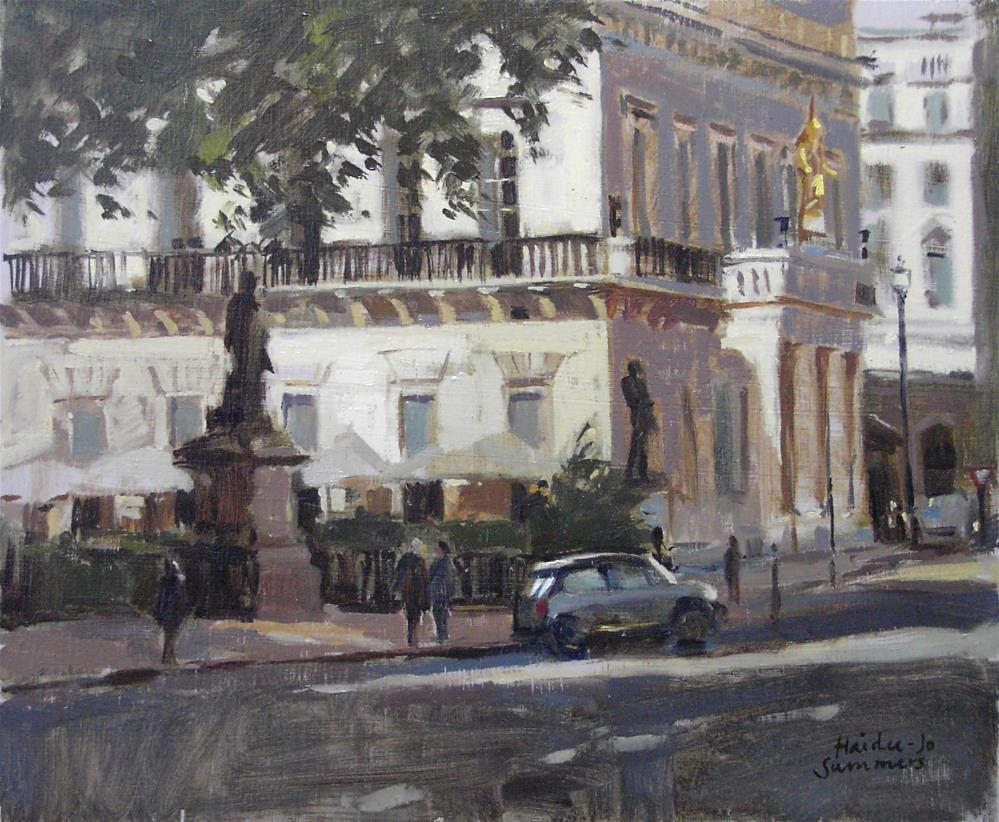"""From the back of the Mall Galleries, London"" original fine art by Haidee-Jo Summers ROI"