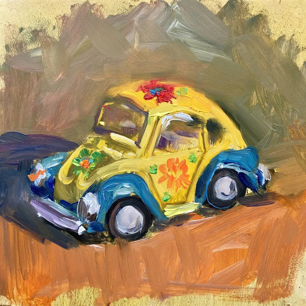"""""""Toy Bug"""" original fine art by Jennifer Stottle Taylor"""