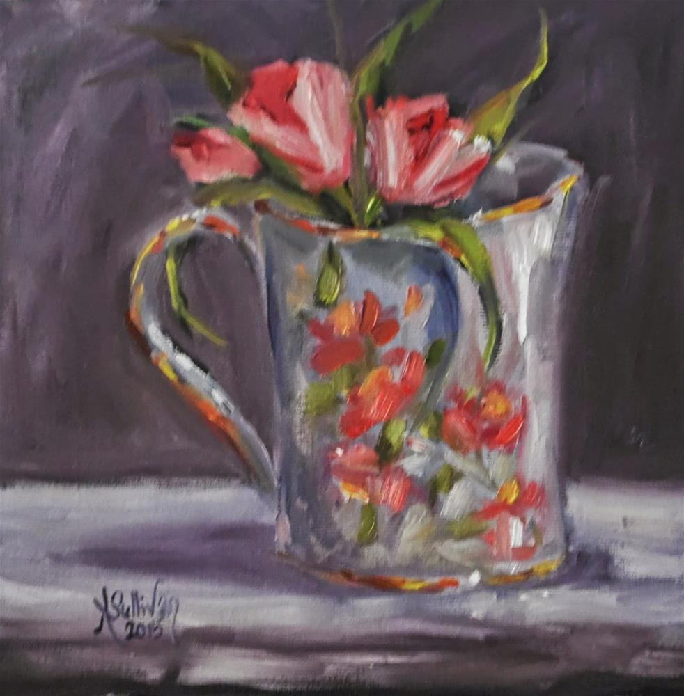 """A Touch of Sparkle still life painting by Alabama Artist Angela Sullivan"" original fine art by Angela Sullivan"
