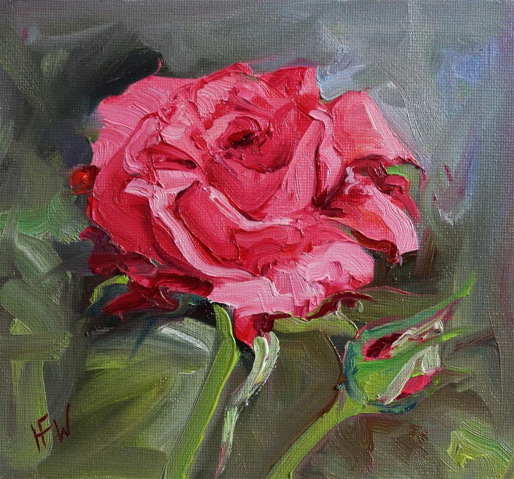 """""""Rose-challenge"""" original fine art by H.F. Wallen"""