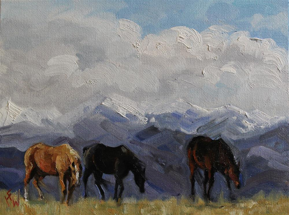 """Winter Pasture in the High Country"" original fine art by H.F. Wallen"