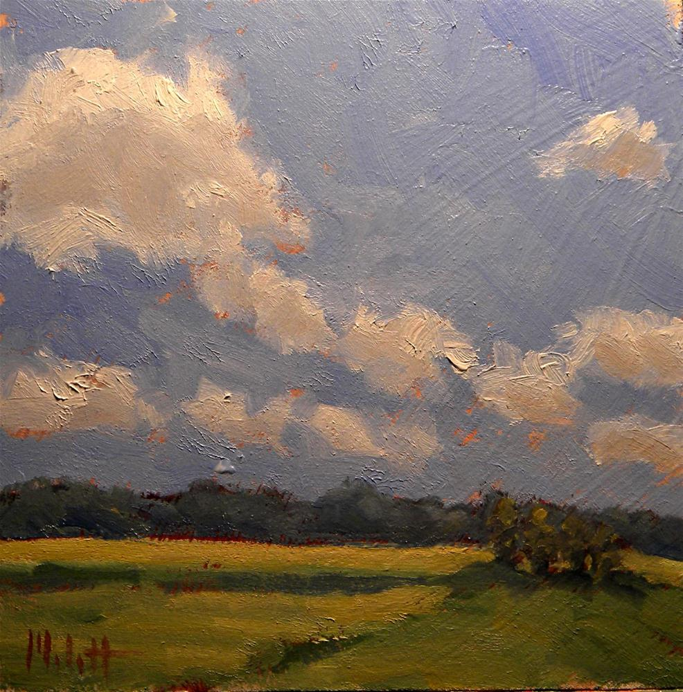 Summer Clouds Contemporary Impressionism Oil Painting original fine art by Heidi Malott