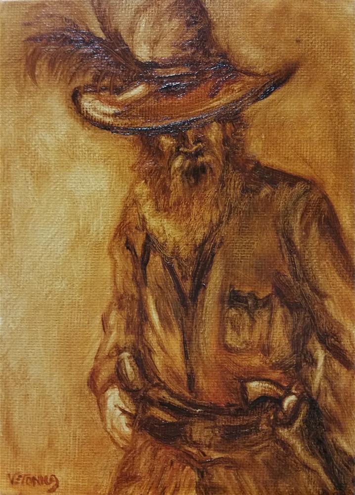 """Gunslinger- value study"" original fine art by Veronica Brown"