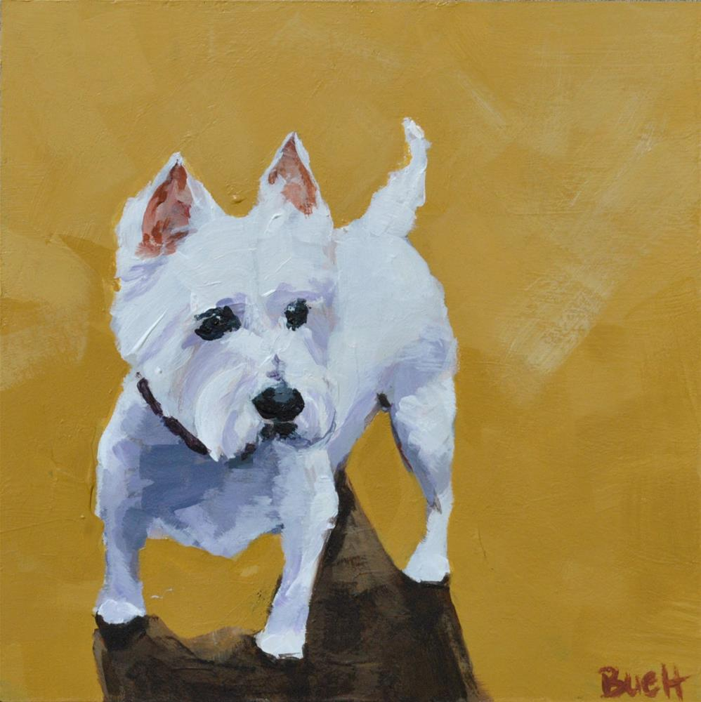 """Little Westie"" original fine art by Shari Buelt"