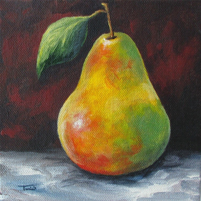 """September Pear II"" original fine art by Torrie Smiley"