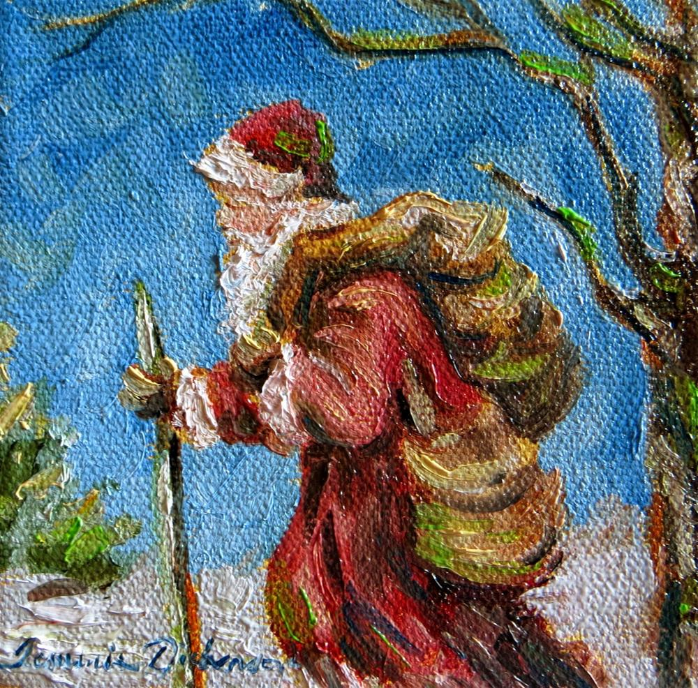 """Father Christmas - miniature"" original fine art by Tammie Dickerson"