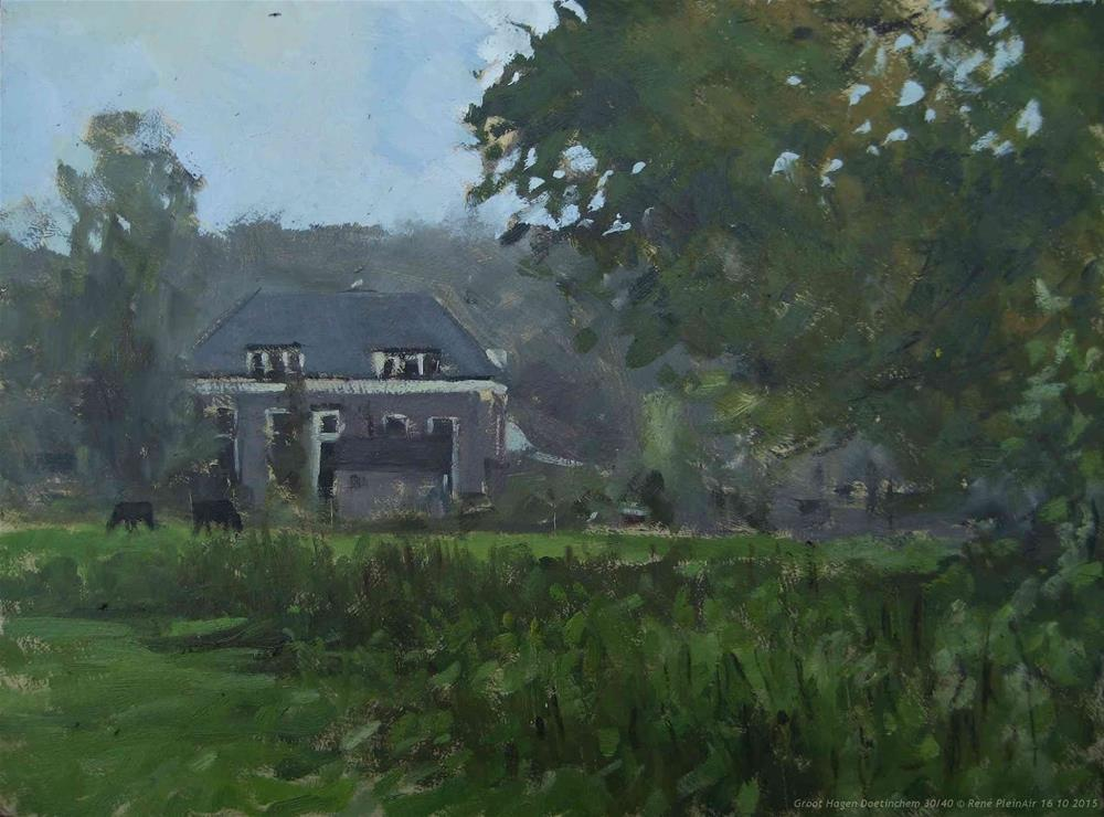 """Groot Hagen. Doetinchem, the Netherlands."" original fine art by René PleinAir"
