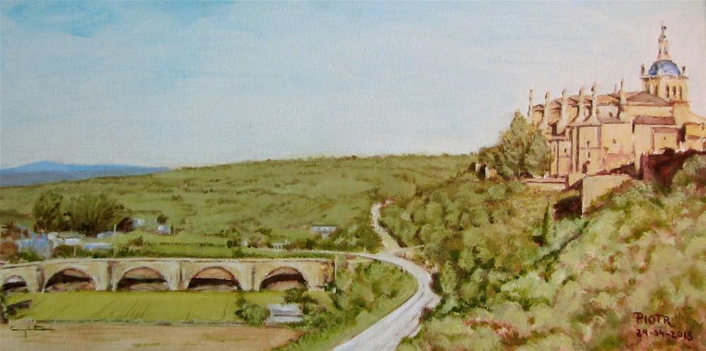 """Puente sin río, Coria."" original fine art by Eduardo Carpintero"