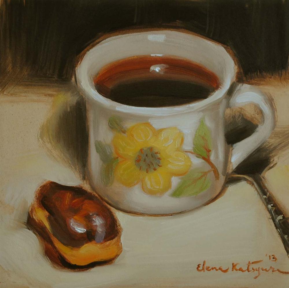 """Chocolate Melody"" original fine art by Elena Katsyura"