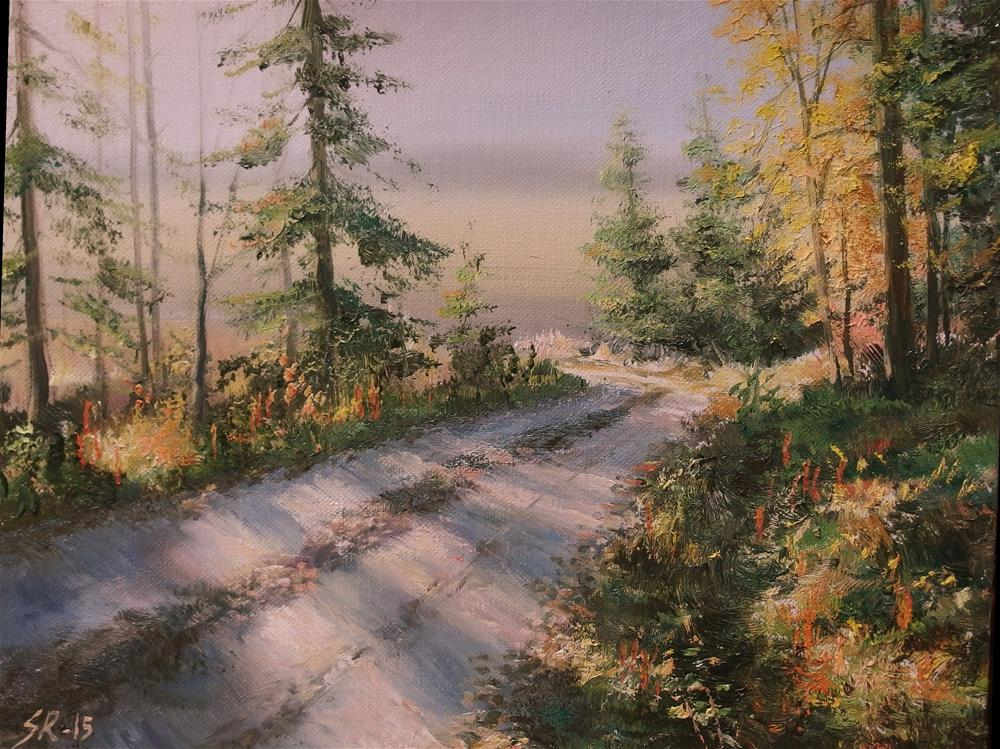 """""""Colors of the fall"""" original fine art by Stig Rosenlund"""