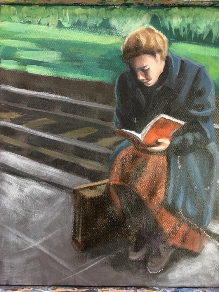 """Waiting for the Best Part"" original fine art by Bev Thibault"