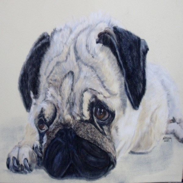 """Worried"" original fine art by Nelvia  McGrath"