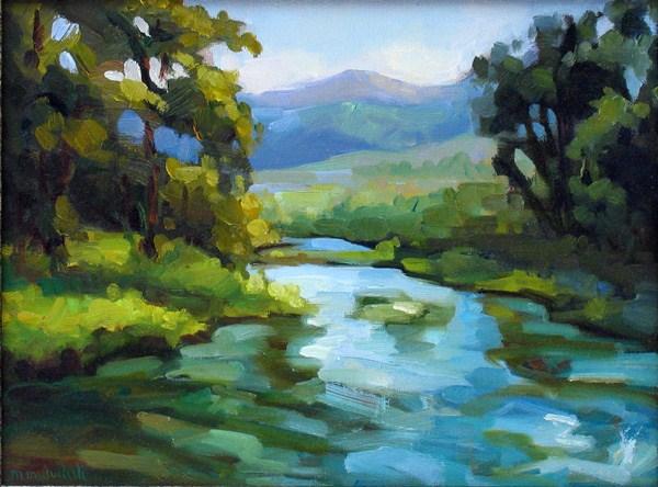 """""""Morning at Valley Stream"""" original fine art by Mary Mulvihill"""