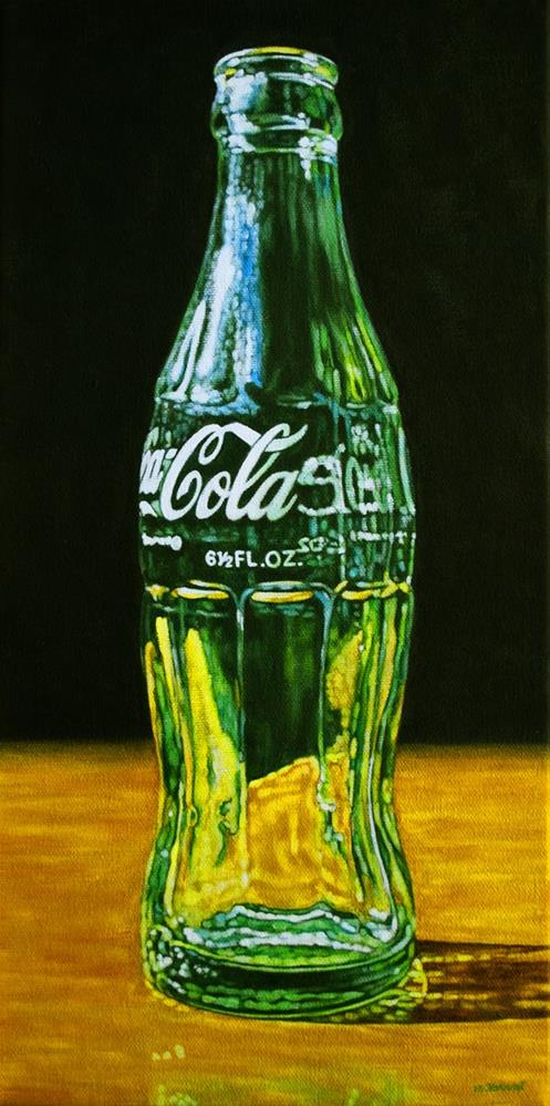 """Coke Bottle"" original fine art by Margaret Horvat"