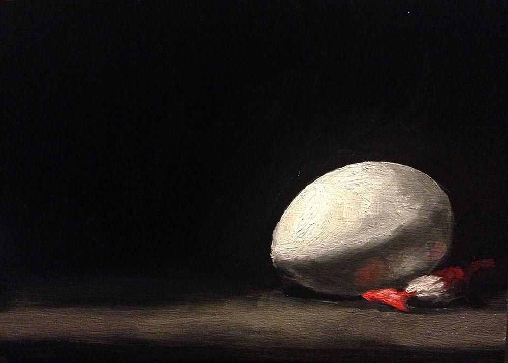 """Egg and Cough Drop"" original fine art by Chris Beaven"