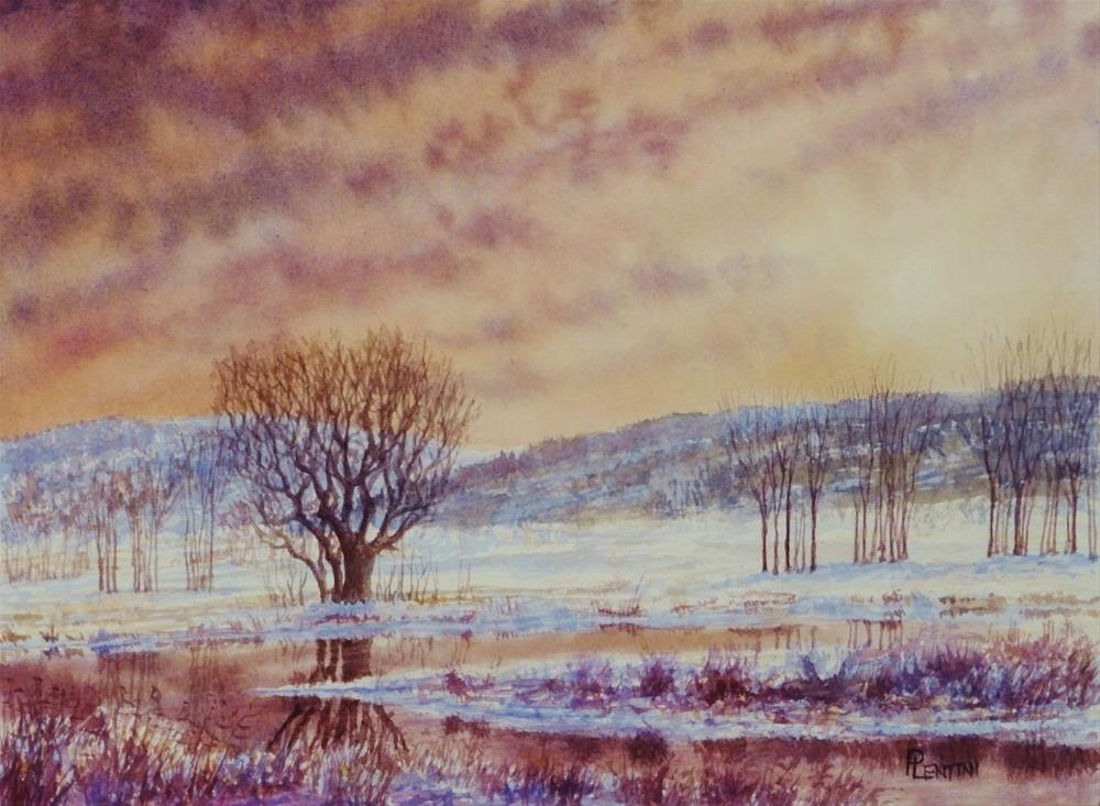 """Solstice Evening"" original fine art by Peter Lentini"