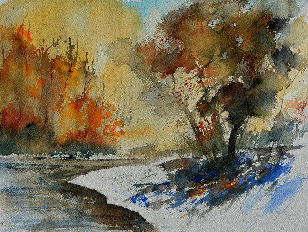 """""""watercolor 613021"""" original fine art by Pol Ledent"""
