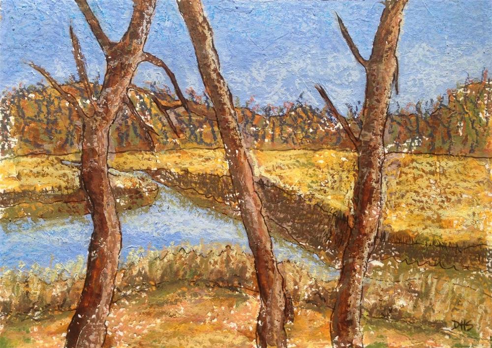 """Across from Farnham's"" original fine art by Dotty Seiter"