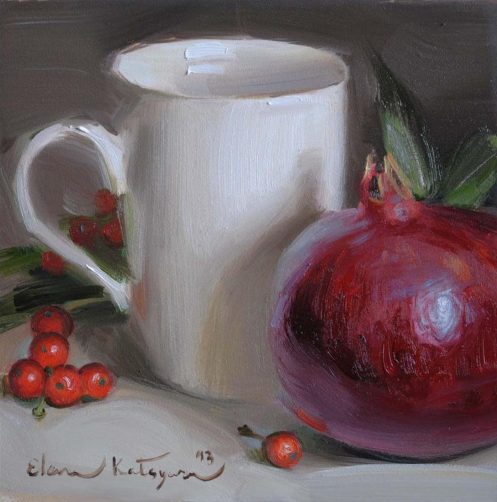 """Pomegranate Cup"" original fine art by Elena Katsyura"