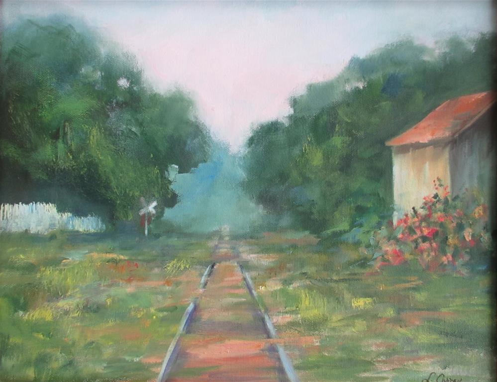 """Whistle Stop"" original fine art by Linda Carney"