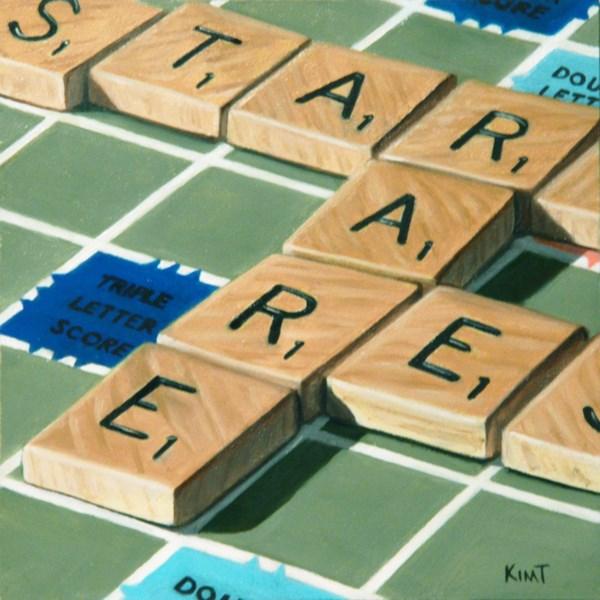 """Scrabble Star"" original fine art by Kim Testone"