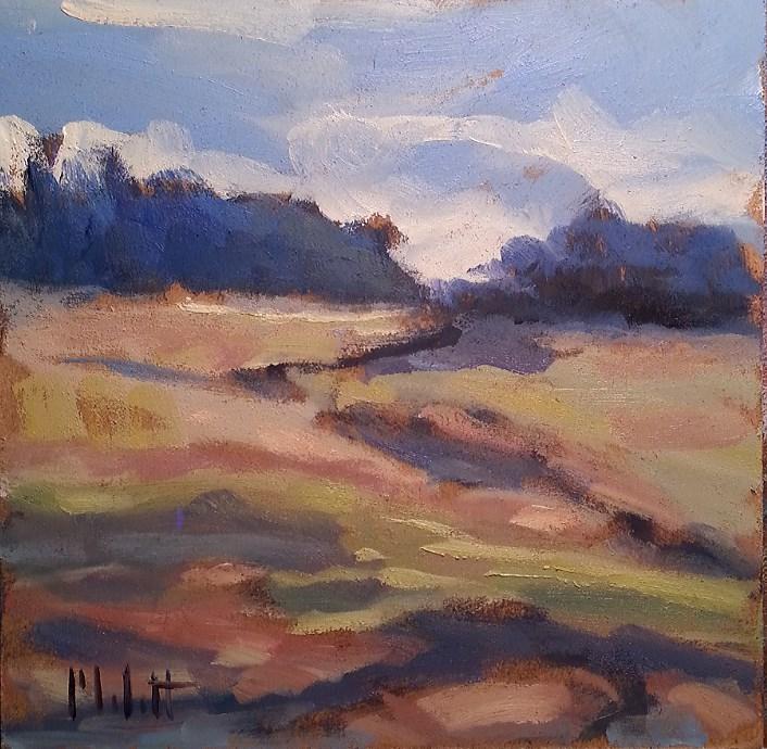 """Meadow 3 of 3 Landscape Impressionism Original Daily Oil Painting"" original fine art by Heidi Malott"