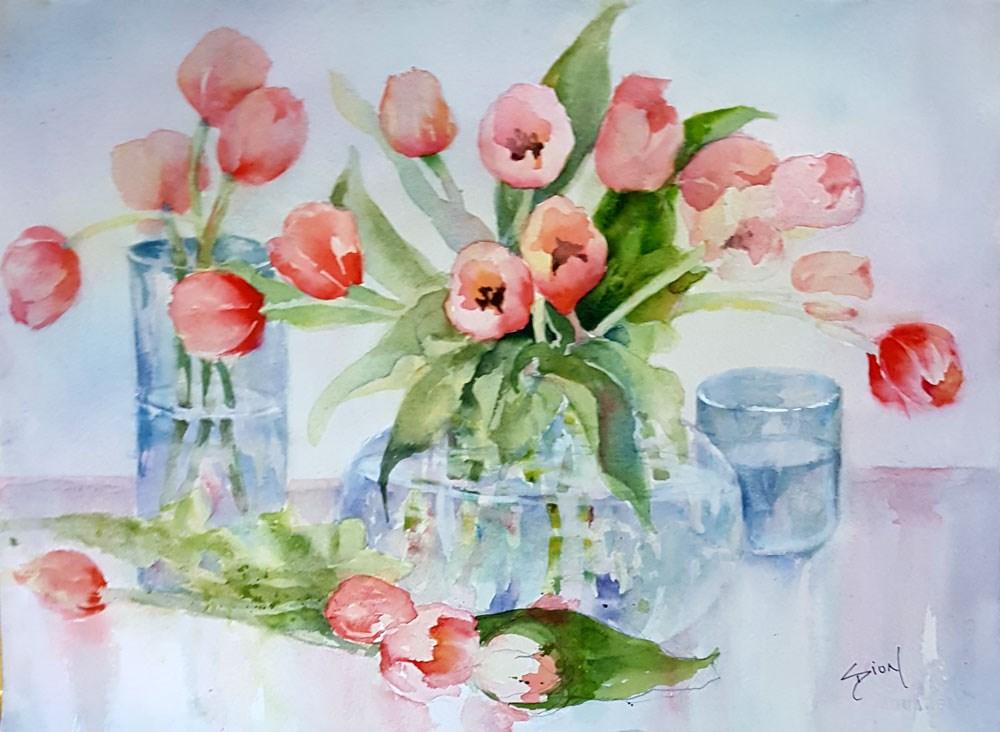 """The Arrangement"" original fine art by Sue Dion"