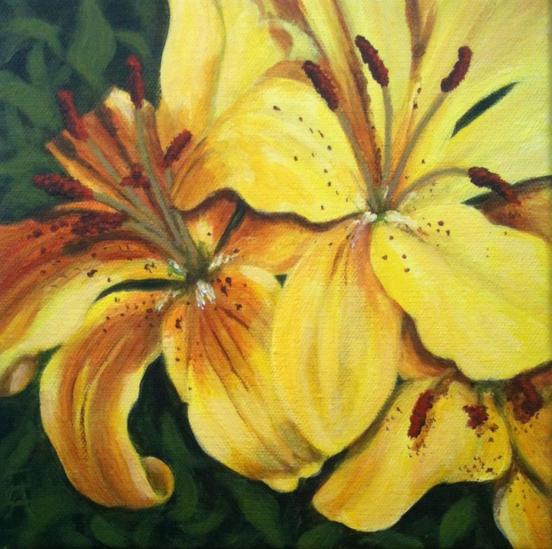 """Not So Mellow Yellow"" original fine art by Elizabeth Elgin"