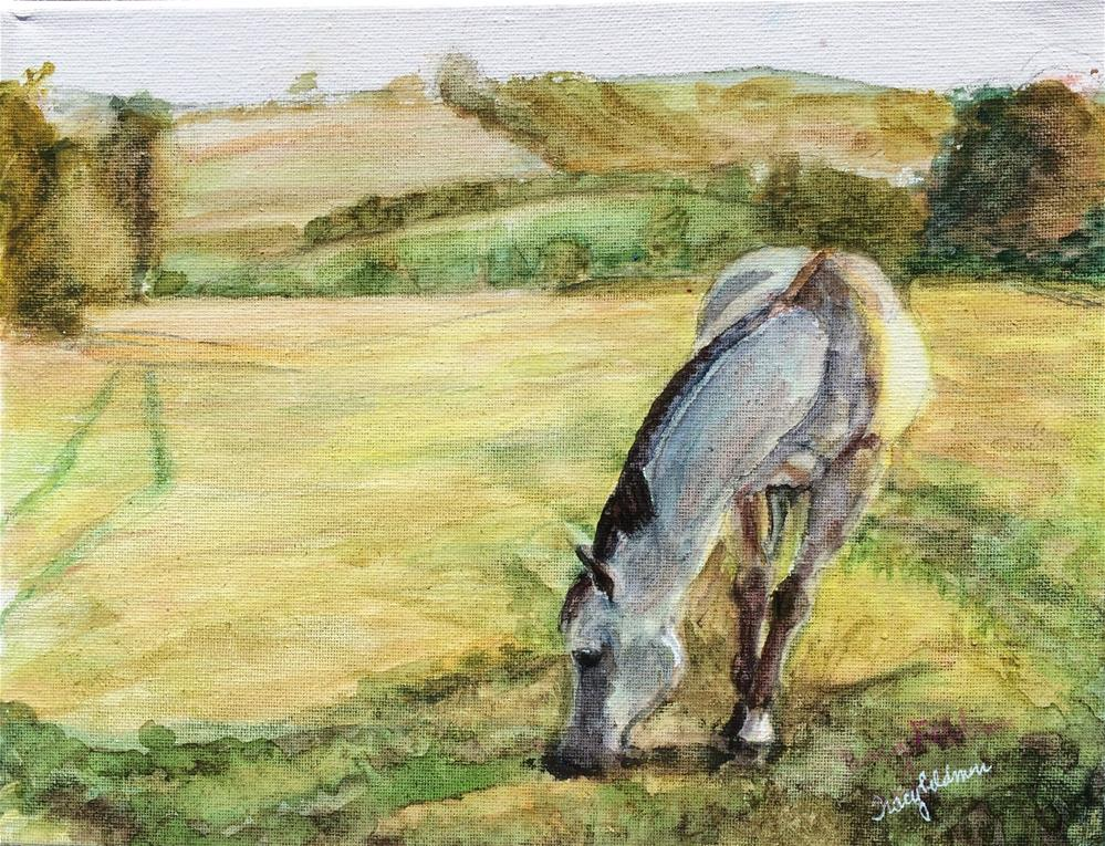 """Peaceful Day for Lucky"" original fine art by Tracy Feldman"