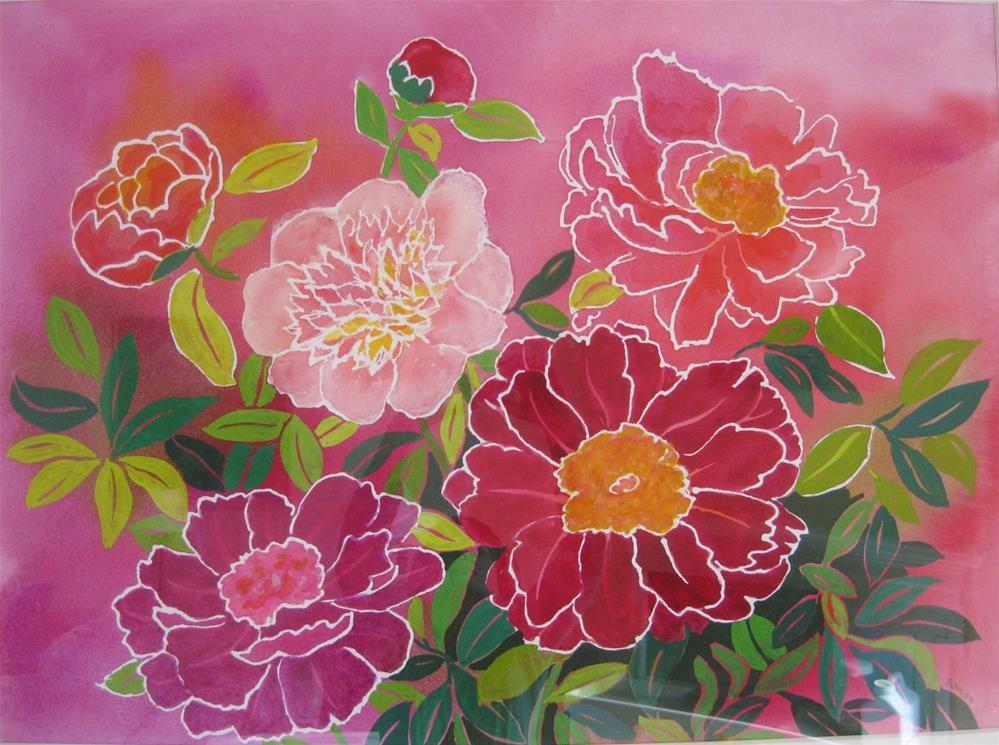 """Pink Passion"" original fine art by Priscilla Bohlen"
