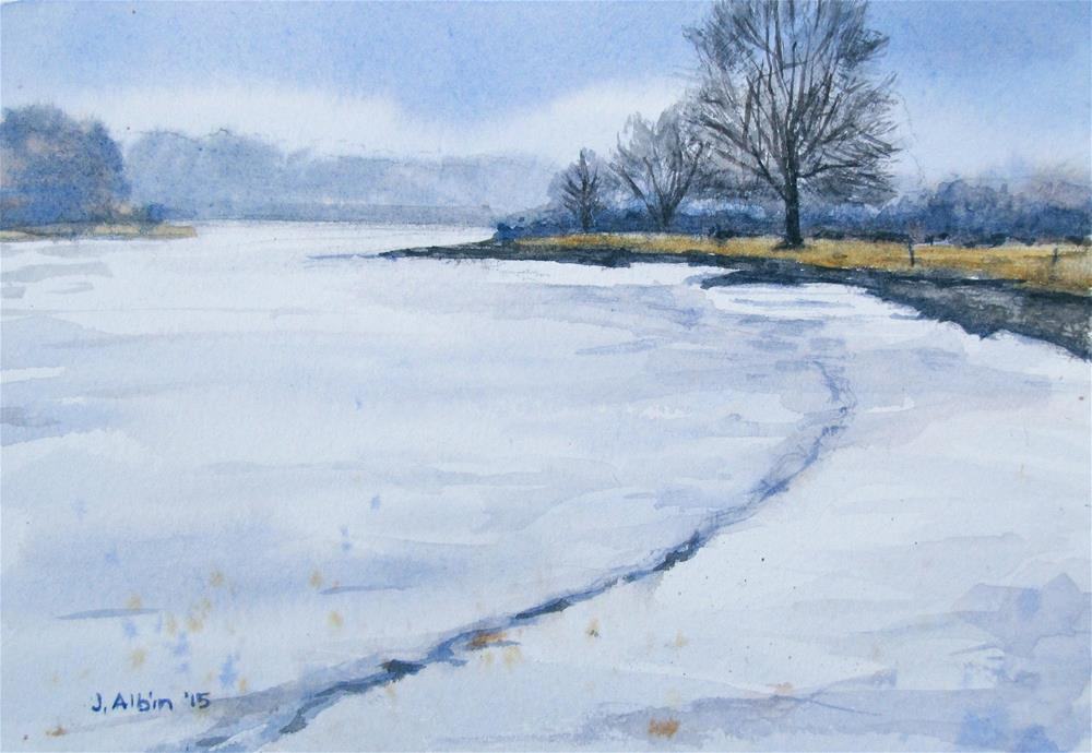 """Winter Freeze"" original fine art by Jane Albin"