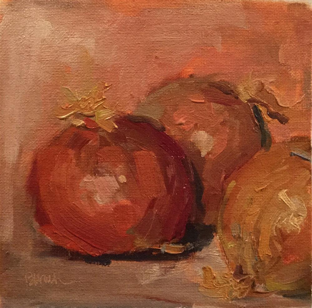 """Onions 2"" original fine art by Barb Walker"
