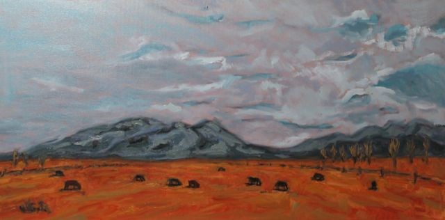 """Taos, NM"" original fine art by William Cook"